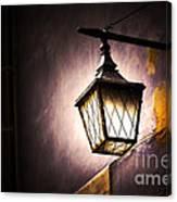 Street Lamp Shining Canvas Print