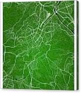 Stuttgart Street Map - Stuttgart Germany Road Map Art On Colored Canvas Print
