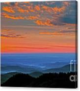 Sunrise Blue Ridge Parkway Canvas Print