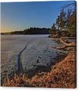 Sunrise On Millsite Lake Canvas Print