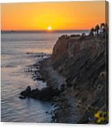 Sunset At Point Vincent Lighthouse Canvas Print