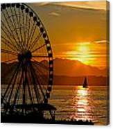 Sunset Ferris Wheel Canvas Print