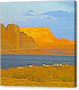Sunset Glow Over Wahweap Bay In Lake Powell In Glen Canyon National Recreation Area-arizona Canvas Print