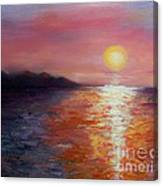 Sunset In Ixtapa Canvas Print