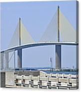 Sunshine Skyway Bridge I Tampa Bay Florida Usa Canvas Print