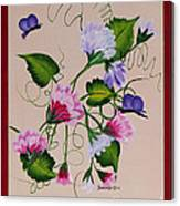 Sweet Peas And Butterflies Canvas Print