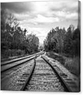 Switching Tracks Leaving Leafing Canvas Print