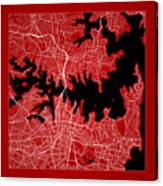 Sydney Street Map - Sydney Australia Road Map Art On Color Canvas Print
