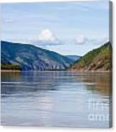 Taiga Hills At Yukon River Near Dawson City Canvas Print