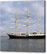 Tall Ship At Anchor Canvas Print