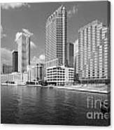 Tampa Skyline From Hillsborough River Canvas Print