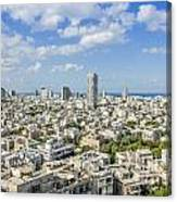 Tel Aviv Israel Elevated View Canvas Print