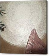 Tesla And White Dove Canvas Print