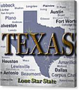 Texas State Pride Map Silhouette  Canvas Print