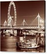 Thames River Night View Canvas Print