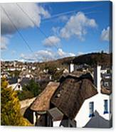 Thatched Cottages Near Dunmore Strand Canvas Print