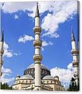 The Azadi Mosque At Ashgabat In Turkmenistan Canvas Print