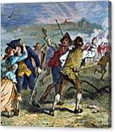 The Battle Of Concord, 1775 Canvas Print