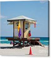 The Beach In Hollywood Florida Canvas Print