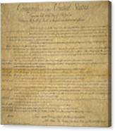 The Bill Of Rights, 1789 Canvas Print