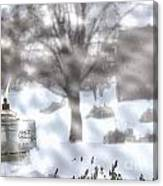 The Candle In The Snow Canvas Print