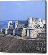 The Crusader Castle Krak Des Chevaliers Syria Canvas Print