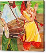 The Dhol Player Canvas Print