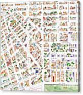 The Greenwich Village Map Canvas Print