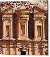 The Monastery At Petra In Jordan Canvas Print