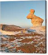The Rabbit Stone Formation In White Desert Canvas Print