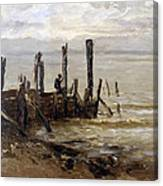 The Sea At Villerville Canvas Print