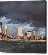 The Storm Over Manhattan Canvas Print