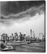 The Storm Over Manhattan Downtown Canvas Print