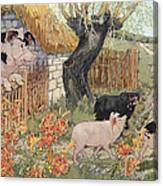 The Three Little Pigs Canvas Print