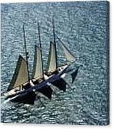 Three Masted Schooner Canvas Print