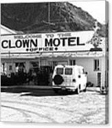 Tonopah Nevada - Clown Motel Canvas Print