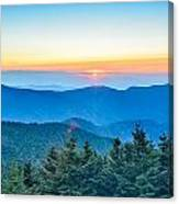 Top Of Mount Mitchell Before Sunset Canvas Print