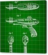 Toy Ray Gun Patent 1952 - Green Canvas Print