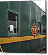Tpw Rr Caboose Side View Canvas Print