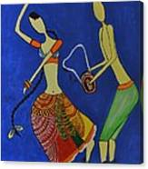 Tribal Dance From India Canvas Print