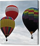 Trio Of Balloons  Canvas Print