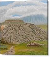 Tucumcari Mountain Reflections On Route 66 Canvas Print