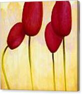 Tulips Are People Xv Canvas Print