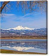 Twin Peaks Longs And Meeker Lake Reflection Canvas Print