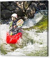 Two Whitewater Kayaks Canvas Print
