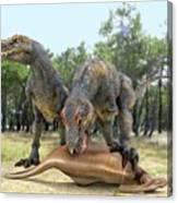 Tyrannosaurus Rex Dinosaurs Canvas Print
