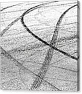 Tyre Tracks Canvas Print