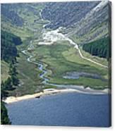 Upper Lake At Glendalough Canvas Print
