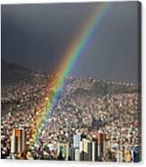 Urban Rainbow La Paz Bolivia Canvas Print
