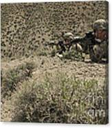 U.s. Soldiers Provide Security Canvas Print